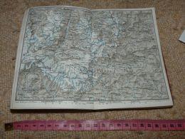 Zermatt Almagel Rima Matterhorn Almagel  Map Karte Suisse Switzerland Suisse 1867 - Cartes Géographiques