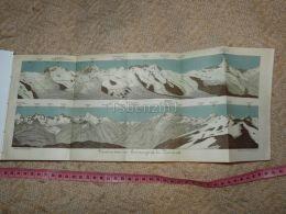 Panorama Vom Gornergrat Bei Zermatt  Map Karte Suisse Switzerland Suisse 1867 - Cartes Géographiques
