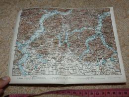 Lago Maggiore Di Como Lugano Bellano Locarno Pallanza Map Karte Suisse Switzerland Suisse 1867 - Carte Geographique