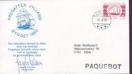 Denmark SonderBrief EBELTOFT 1984 Cover Brief PAQUEBOT Last Voyage Of Fregatten Jylland - Dänemark