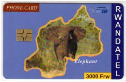RWANDA REF MV CARDS RWA-C-02 3000FRW ELEPHANT