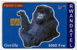 RWANDA REF MV CARDS RWA-C-03 5000FRW GORILLE - Rwanda