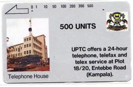OUGANDA REF MV CARDS UGA-03 500U UPTC - Uganda