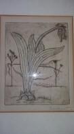 4060: Rudolf Baschant, Bauhaus, 1897- 1955, Litho Lilie Zweifarbig, Beschreibung Lesen ! - Lithographies