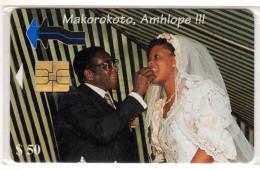 ZIMBABWE REF MV CARDS ZIM-07 50$ SCENE DE MARIAGE - Zimbabwe