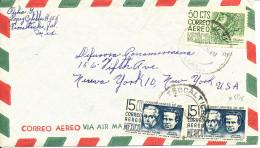 Mexico Air Mail Cover Sent To USA 27-8-1962 - Mexico