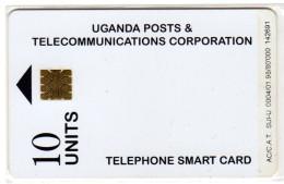 OUGANDA REF MV CARDS UGA-25 10U WHITE CARD 01 98 - Uganda