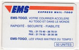 TOGO REF MV CARDS TOG-13 50U EMS - Togo