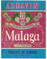 "Albania, ""Malaga"", Wine Label. - Rotwein"