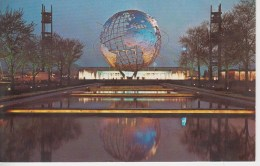 CPSM New York World's Fair 1964-1965 Unisphere - Night Scene - Expositions