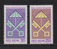 VATICAN, 1978, Mint Never Hinged Stamps , St. Peter's Keys, 726=728, #4326, - Vatican