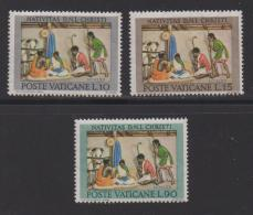 VATICAN, 1962, Mint Never Hinged Stamps , The Nativity, 420-422, #3872, - Vatican