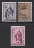 VATICAN, 1963, Mint Never Hinged Stamps , Saint Cyril , 436-438, #3875, - Vatican