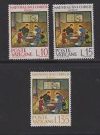 VATICAN, 1964, Mint Never Hinged Stamps , Christmas, 464-466, #3879,  No Glue - Vatican