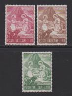VATICAN, 1965, Mint Never Hinged Stamps , The Nativity, 487-489, #3880, - Vatican