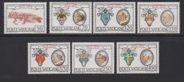 VATICAN, 1979, Mint Never Hinged Stamps , 50th Anniversity Of Vatican City,748-754, #3886, - Vatican