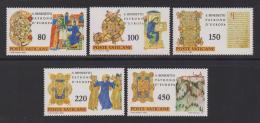 VATICAN, 1980, Mint Never Hinged Stamps , Benedict Of Nursia,759-763, #3887, - Vatican
