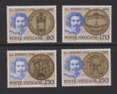 VATICAN, 1980, Mint Never Hinged Stamps , Bernini, 771-774, #3888, - Vatican