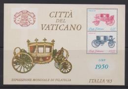 VATICAN, 1985, Mint Never Hinged Block Of Stamps , Cita Del Vaticano, 880-881, #3894, - Vatican