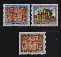 VATICAN, 1964, Mint Never Hinged Stamps , Numibian Monuments, 446=448, #3917,   3 Values Only - Vatican