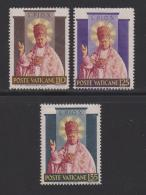 VATICAN, 1954, Mint Hinged Stamps , Pope Pius X, 220-222, #3865 - Vatican