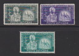 VATICAN, 1955, Mint Hinged Stamps , St. Boniface, 230-232, #3870 - Vatican