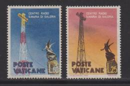VATICAN, 1959, Mint Hinged Stamps , Radio Mast, 315-316, #3871 (no Glue) - Unused Stamps