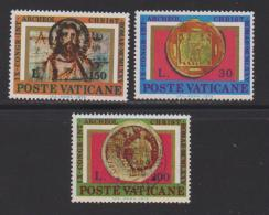 VATICAN, 1975, Mint Hinged Stamps , Miracles Of Loaves & Fishes, 664-666, #3884  (no Glue) - Vatican