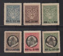 VATICAN, 1945, Mint Hinged Stamps , Overprints , 116=123, #3905  6values Only - Vatican