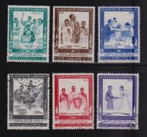 VATICAN, 1965, Mixed Stamps,  Ugandan Martyres, 471-476,, #3924, Complete - Vatican
