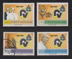 VATICAN, 1981, Mixed Stamps, Marconi Pope Pius XI, 779-782, #4344 Complete - Vatican