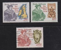 VATICAN, 1985, Mixed Stamps, Saint Thomas More,. 870-872, #4404 Complete - Vatican