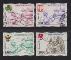VATICAN, 1980, Used Stamps, Air, Pope John Paul II, 764=770, #4340 4 Values Only - Vatican