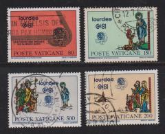 VATICAN, 1981, Used Stamps, Eucharistic Congress, 785-788, #4346 Cpl - Vatican