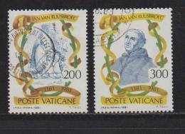 VATICAN, 1981, Used Stamps, Jan Van Ruusbroec, 789-790, #4347 Complete - Vatican