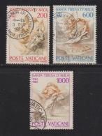 VATICAN, 1982, Used Stamps, St. Theresa Of Avila, 808-810, #4357 Complete - Vatican