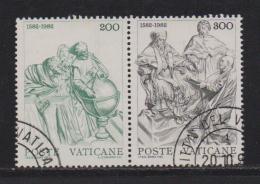 VATICAN, 1982, Used Stamps, Gregorian Calendar, 811=813, #4394 2 Values Only - Vatican