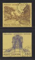 VATICAN, 1984, Used Stamps, Cultural Institutions, 848=851, #4400 2 Values Only - Vatican