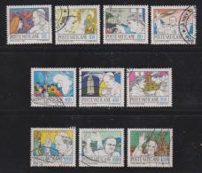VATICAN, 1984, Used Stamps, The Pope In Karachi, 852=863, #4401 10 Values Only - Vatican