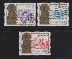 VATICAN, 1984, Used Stamps, Pope St. Damasus, 864-866, #4403 Complete - Vatican