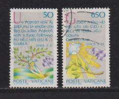 VATICAN, 1986, Used Stamps, International Peace Year, 889=893, #4411   2 Values Only - Vatican