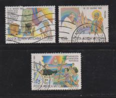 VATICAN, 1986, Used Stamps, Pope And Young People, 899=906, #4414 3 Values Only - Vatican