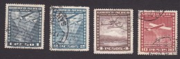Chile, Scott #C39-C40, C42, C46, Used, Planes Over Chile, Issued 1934 - Chile