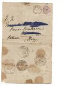 6424 England UK London 1887 Cover To Italy Stamp Annullo Collettoria Cutigliano - 1840-1901 (Regina Victoria)