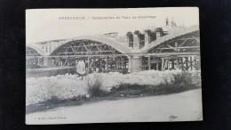CPA D42 Andrezieux, Construction Du Pont - Andrézieux-Bouthéon