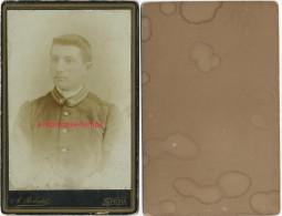 Photo Cartonnée-soldat Avec 1 étoile Sur Col-belge?-photo  Robatel à Spezia- Italie- Italia - War, Military