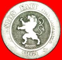 § LION: BELGIUM ★ 10 CENTIMES 1861! LOW START ★ NO RESERVE! Leopold I (1831-1865) - 1831-1865: Léopold I