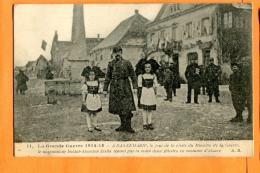 MAT-04 Dannemarie, Guerre 1914-1918, Jour De La Visite Du Ministre De La Guerre, Dessinateur Zislin. Circulé Sous Envelo - Dannemarie