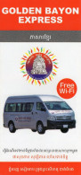 PLAN RESEAU AUTOBUS Golden Bayon Express  CAMBODGE  CAMBODIA - Monde