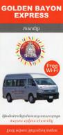 PLAN RESEAU AUTOBUS Golden Bayon Express  CAMBODGE  CAMBODIA - World